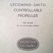 1934 Lycoming Smith Controllable Propeller Service Parts Manual