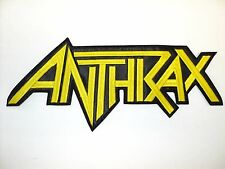 ANTHRAX  YELLOW  SHAPED LOGO          EMBROIDERED BACK PATCH