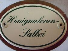 Kräuterschild Kräuterstecker Pflanzschild Emailschild Honigmelonen-Salbei 25cm