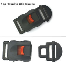 Motorcycle Black Helmet Safety Clasp Chin Strap Quick Release Disconnect Buckle