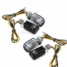 4Pcs E8 E-Mark 6 LED Stalk Motorcycle Mini Turn Signal Light Blinker Indicator