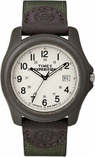 Timex Men's Expedition Camper | Brown Case Green Strap White Dial | Watch T49101