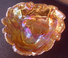 Bon Bon Candy Nut Dish Indiana Glass Loganberry Iridescent Carnival Bowl vintage