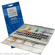 Winsor & newton cotman artiste 45 demi-pan aquarelle studio box set-rrp £ 74.99