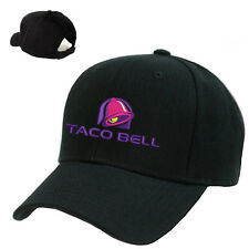 TACO BELL LOGO STITCHED EMBROIDERED BASEBALL CAP BLACK ADJUSTABLE
