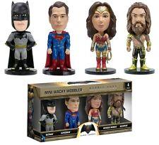 Batman vs Superman Mini Wacky Wobbler 4-Pack Bobble Head Figures - Aquaman Woman