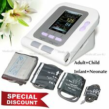 Digital Arm Blood Pressure Monitor Heart Rate Beat Pulse Meter +4 Cuffs+Software