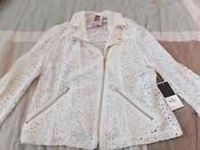 NWT Juicy Couture Angel Lace Moto jacket Size S Juicy Couture Moto Jacket