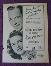 The Bells of St.Mary's Crosby Original movie ad from 1940's fan magazine L@@K
