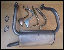 Fiat 126 650cc 87-96 EXHAUST REAR SILENCER + BRACKETS + GASKETS