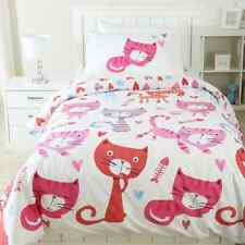 KITTY CAT CATS  KITTEN  DOUBLE bed QUILT DOONA COVER SET NEW