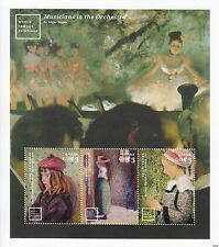 Ghana 2014 MNH World Famous Paintings 3v M/S Pissarro Childe Hassam Edgar Degas