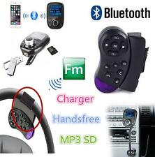 Car Steering Wheel Bluetooth FM Transmitter USB MP3 Player FM Modulator MMC Kit