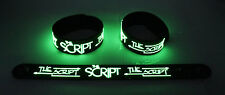 The Script NEW! Glow in the Dark Rubber Bracelet Wristband Superheroes gg203