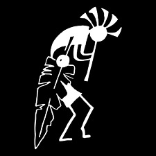 Native American Tribal Art Man Car Truck Window Wall Laptop Vinyl Decal Sticker.
