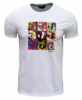 Ben Sherman Heritage Men's Retro Fashion T Shirt Top Mod Scooters white