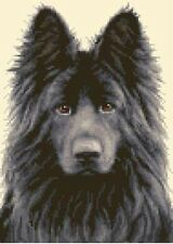 BLACK GERMAN SHEPHERD ALSATIAN dog - Counted cross stitch kit