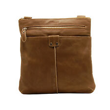 ASHWOOD - ANTIQUE TAN COW VINTAGE LEATHER CAMDEN MESSENGER DAY BAG