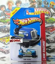 Hot Wheels 2013 #145 Bump Around™ BLUE,2ND COLOR,BLACK 5SP,DARK CHROME BASE,NICE