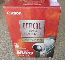 Canon MV20 Digital Video Camera + 6 Batteries - 3 Chargers - Remotes - Boxed