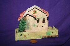 Antique Vintage Putz? Cardboard Made In Japan Christmas Lighted House B
