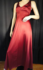 Vintage Nightgown negligee wine Red pinup Empire 70's long S sissy Grecian sexy