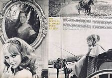 COUPURE DE PRESSE CLIPPING 1967 ANNA KARINA  (2 pages)