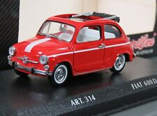 Detail Cars 1/43 diecast 1965 Fiat 600D Cabriolet in original box.