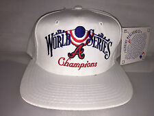 Vtg Atlanta Braves Snapback hat cap 1995 World Series MLB Baseball Annco chipper