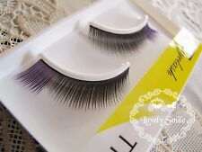 Purple & Black Coloured Korean Eyelashes 1.2cm color Volumized & Cute