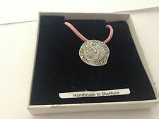 Henry VIII Coin H8CP Pewter Emblem ON A PINK CORD Necklace Handmade