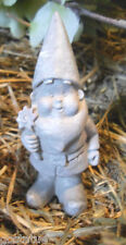 latex mold tiny gnome  mold plaster mold cement mould