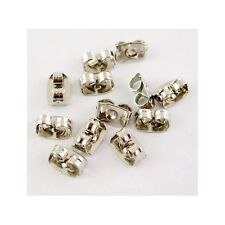 Wholesale Bulk Lot 100 Pairs Silver Tone Earring Backs Ear Nuts Jewelry