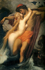 Huge Oil painting Lord Frederick Leighton - The Fisherman and the Syren lovers