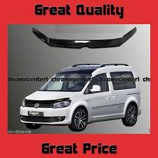 VW Caddy New Shape Bonnet Protector Bug Guard Solid Black Acrylic 2011-2015