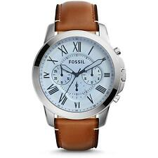 Fossil FS5184 Grant Chronograph Brown Leather Analog Men's Watch