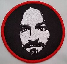 "Charles Manson 3"" embroidered Iron on patch"