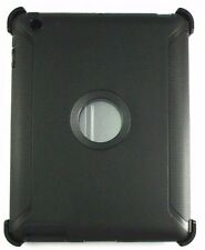 Black Shockproof defend Heavy Duty Protective Hybrid Case Cover For iPad 2/3/4