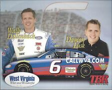 "2000 DAMON LUSK / WALLY DALLENBACH ""CALLWVA.COM"" #6 NASCAR BUSCH SERIES POSTCARD"