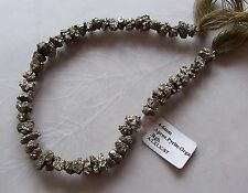 "8"" Strand Pyrite Gemstone Small Rough Nugget Chip Beads 6mm-8mm"