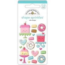 Doodlebug ~ CREAM & SUGAR ~ Shape Sprinkles ~ Cake Shoppe ~ Enamel Dots