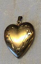 """Vtg Gold Filled Picture Locket Heart Shaped 1 1/4"""""""
