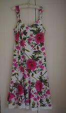 M & S PER UNA LADIES SUMMER STRAPPY DRESS SIZE 14 L