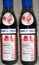 Dark Danncy Pure Mexican Vanilla Extract 12oz Ea 2 Plastic Bottles From Mexico