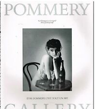 Publicité Advertising 1986 Le champagne Pommery Gallery par Jeanloup Sieff