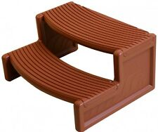 Confer Plastics HS2 Rosewood Resin Handi-Step For Spa and Hot Tubs