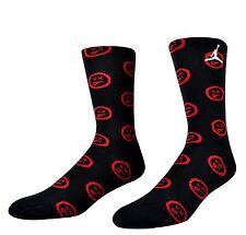 Nike Jordan 12 Flu Game Crew Retro Socks Black Red (# 806408-010)