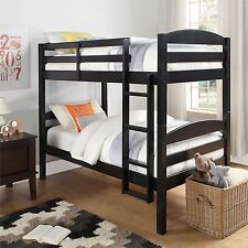 Bunk Beds Twin Over Twin Kids Furniture Bedroom Ladder Wood Convertible Bunkbeds