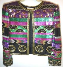 Womens Sequin / Beaded Jacket Cruise Cocktail Evening Size Petite S / M