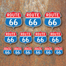 Route 66 Sticker Set Retro Classic Motorcycle Car VW Camper Caravan Hot Rod
